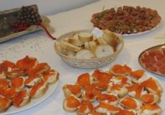Gli antipasti a buffet